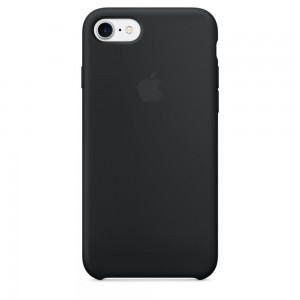 Apple Silicone Case Black for iPhone 7