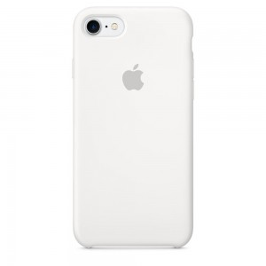 Apple Silicone Case White for iPhone 7