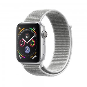 Apple Watch Series 4 (GPS) 44mm Silver Aluminum w. Seashell Sport Loop