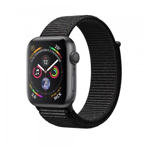 Apple Watch Series 4 (GPS) 44mm Space Gray Aluminum w. Black Sport Loop