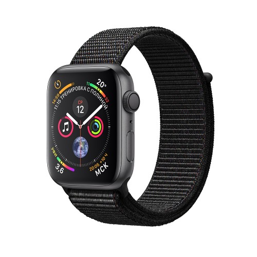 Apple Watch Series 4 (GPS) 40mm Space Gray Aluminum w. Black Sport Loop