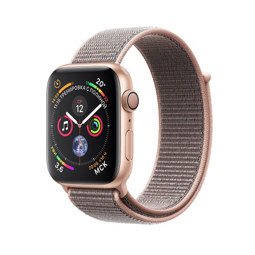 Apple Watch Series 4 (GPS) 44mm Gold Aluminum w. Pink Sand Sport Loop