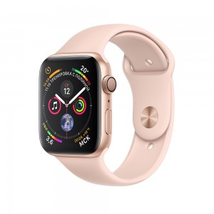 Apple Watch Series 4 (GPS) 44mm Gold Aluminum w. Pink Sand Sport Band