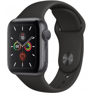 Apple Watch Series 5 GPS (MWVF2) 44mm Space Gray Aluminum Case with Black Sport Band