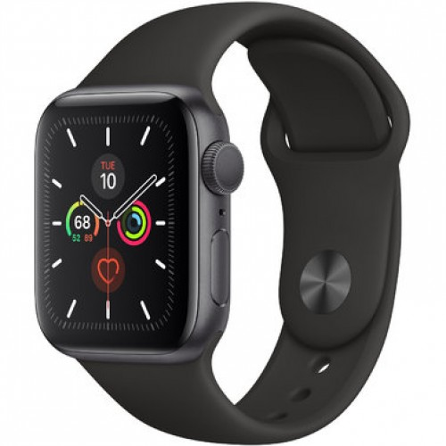 Apple Watch Series 5 GPS (MWV82) 40mm Space Gray Aluminum Case with Black Sport Band