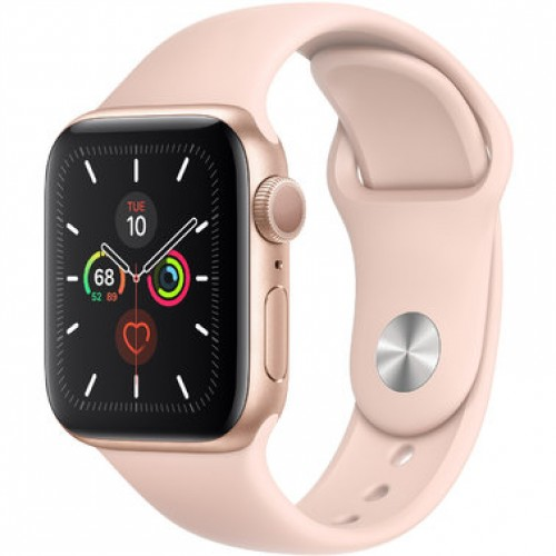 Apple Watch Series 5 GPS (MWV72) 40mm Gold Aluminum Case with Pink Sand Sport Band
