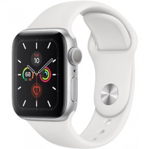 Apple Watch Series 5 GPS (MWVD2) 44mm Silver Aluminum Case with White Sport Band