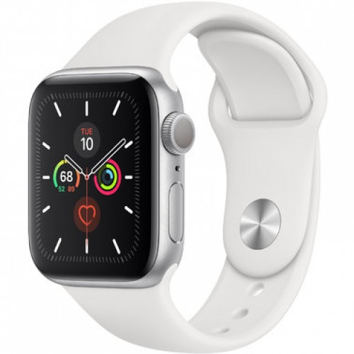 Apple Watch Series 5 GPS (MWV62) 40mm Silver Aluminum Case with White Sport Band