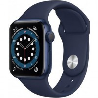 Apple Watch Series 6 44mm Blue Aluminum Case with Deep Navy Sport Band (M00J3)