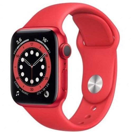 Apple Watch Series 6 40mm PRODUCT(RED) Aluminum Case with Red Sport Band (M00A3)