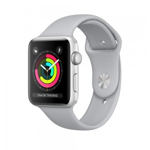 Apple Watch Series 3 GPS 38mm Silver Aluminum Case with Fog Sport Band