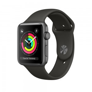 Apple Watch Series 3 GPS 38mm Space Gray Aluminum Case with Gray Sport Band